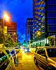 N Elm street at night