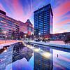 Center City park reflections