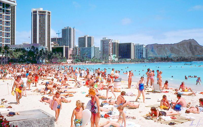 1979 Honolulu Wahikiki beach