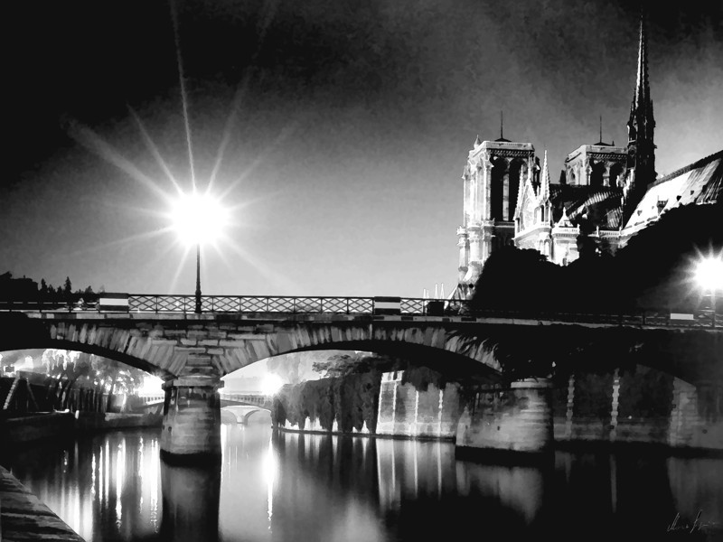 1962 Paris Notre Dame, the Seine, l'isle de France