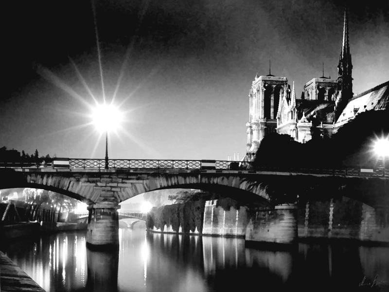 1962 Paris Notre Dame, the Seine, l'isle de France