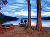 Twilight on lake Brandt