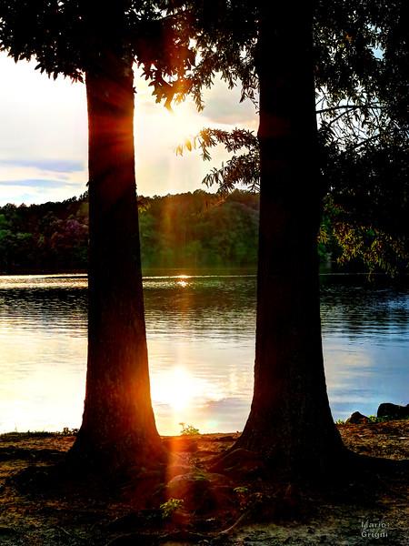 Lake Brandt marina sunset