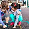 un15.09 / New photo requested of girls talking privately together / what characterizes children's friendships.  Choice  15 of 17