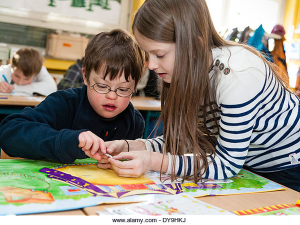 Un16.16 / New photo requested of child with down syndrome in classroom setting, choice 7 of 13