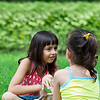 un15.09 / New photo requested of girls talking privately together / what characterizes children's friendships.  Choice 9 of 17