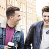 Un15.10b / Two male co-workers talking at the office / How is adult friendship different among female friends, male friends and cross-gender friends.  Choice 13 of 14 / This one is free for use