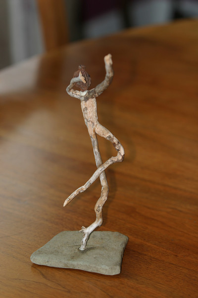 Figurine from tree roots by Chuck Lawrence