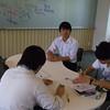 嘉悦大学にて。渋川先生と参加学生の皆様。公務員試験対策講座のワンシーン。