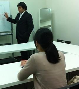 面接特訓にて。田邉先生からのガイダンス「自分の面接官経験から言っても面接官はこの点を見てます」