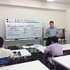 過去問・類題演習会の様子 解説講義・田邉共同代表講師による行政法解説中