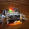 Johnny Greaves races his Monster Energy truck in the PRO 4WD class at the Charlotte Motor Speedway in Charlotte, NC on August 20,2016