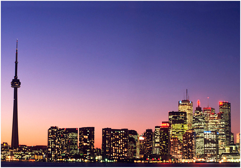 Print title:  Toronto at Twilight  /  File #   Tor_ 0001  / ©Gj