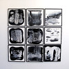 """Seismic Series I-IX by Iorillo, 24""""x24"""" each on wood"""