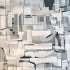"Tones of Grey-Hibberd, 40""X40"" on canvas,"