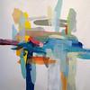 "Interaction 1-Hibberd, 40""x40"" on canvas"
