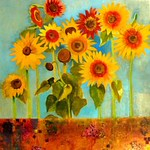 J  Martin, sunflowers