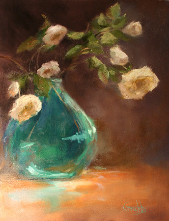 Flowers in Green Vase-Grubbs (sold)