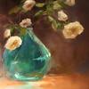 Flowers in Green Vase-Grubbs (sold)