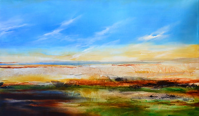Abstracted Landscape-Welsh, 40x60 painting on canvas JPG