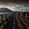 Wharf at sunset in Salmon Arm