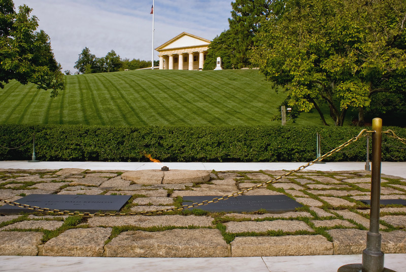 THE KENNEDY GRAVE SITES IN ARLINGTON NATIONAL CEMETERY