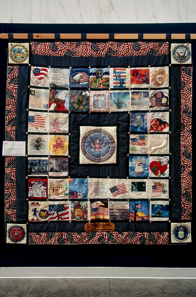 ONE OF THE MANY QUILTS IN THE WOMEN'S WAR MEMORIAL IN THE ARLINGTON NATIONAL CEMETERY