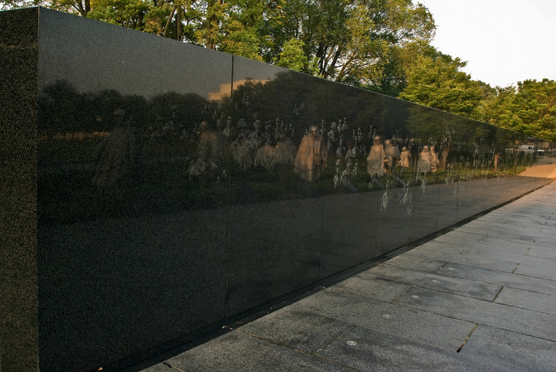 THE GRANITE WALL OF THE KOREAN WAR MEMORIAL