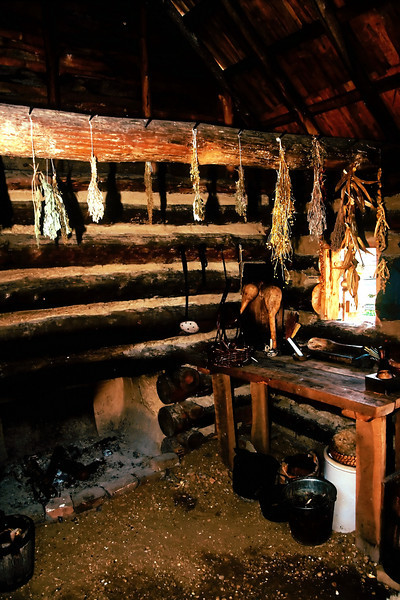 LOG OUTKITCHEN AT THE NATIONAL COLONIAL FARM
