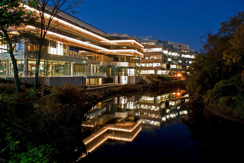 HOUSE OF SWEDEN AND REFLECTION IN ROCK CREEK<br /> IMAGE 1287