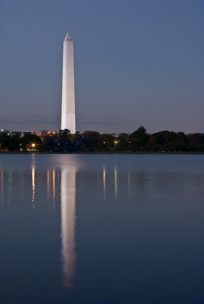 THE MONUMENT AND TIDAL BASIN REFLECTION