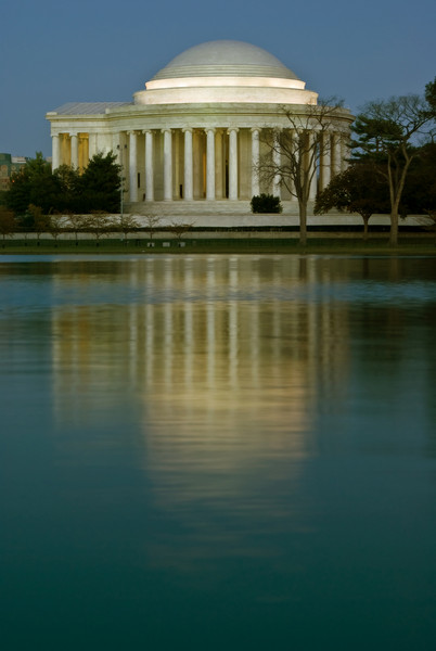 JEFFERSON MEMORIAL WITH REFLECTION