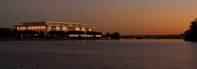 JOHN F. KENNEDY CENTER,<br /> SUN SET PANORAMA