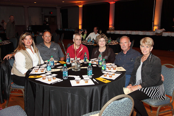 (L to R) Jennifer White, Mike Murray, Loren Crandall, Cathy Crandall, Carl Moore, Debbie Moore