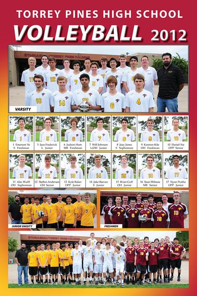 12x18 poster, 3 teams