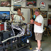 Another picture of the dyno in Denver, taken in 2012,.  The engine is a VW 1600 water cooled engine which Pete built for the Lola 620 Formula Super Vee which Bob had restored.