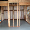 Then after the new metal building was done, framing for the dyno room inside the building was completed in about August.