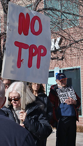TPP protest Boulder, Co (1/14) 2