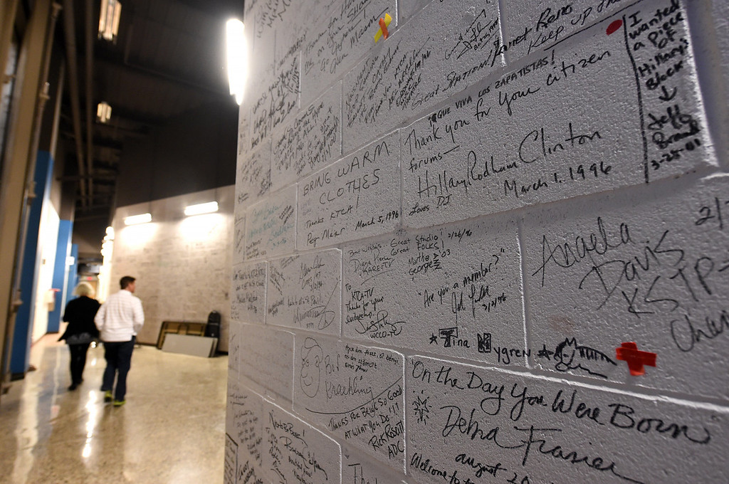 . The granite walls that line the hall outside the two live-broadcast studios are still decorated with autographs of famous guests.  (Pioneer Press: Jean Pieri)