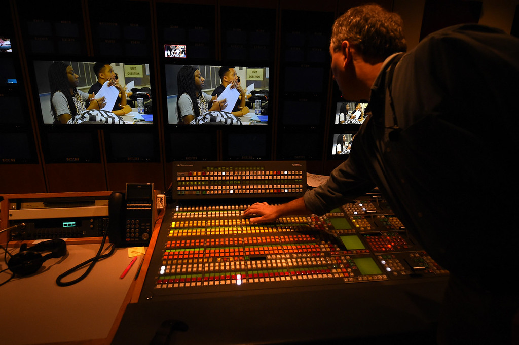 . Jon Van Amber works in the new control room at Twin Cities Public Television.  (Pioneer Press: Jean Pieri)