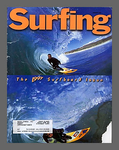 SURFING COVER, SKINDOG COLLINS, NORTH OF SANTA CRUZ, CA