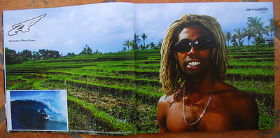 ARNETTE SUNGLASSES: GILBERT BROWN, INDO. TWO PG SPREAD