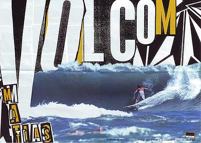 TWO-PAGE VOLCOM AD, MATTIAS MULANOVICH, COSTA RICA
