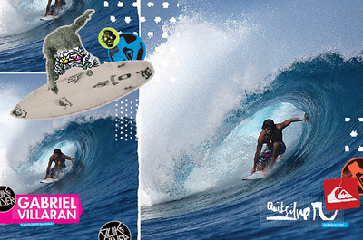 QUIKSILVER AD two-page spread of Gabriel Villaran from Nocanduis!
