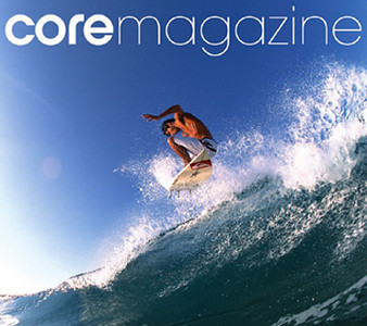 COVER; CORE PREMIER ISSUE, JIMMY ROTHERHAM, COSTA RICA. TR IS CO-FOUNDER AND PHOTO EDITOR OF THIS QUARTERLY ALL CENTRO AMERICA SURF MAG
