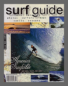 SURFING MAGAZINE'S SURF GUIDE, COVER. NATE ACKER, SOUTH OF SANTA CRUZ, CALIF.