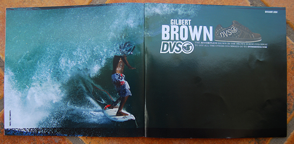 DVS/ GILBERT BROWN AD TWO-PAGE SPREAD
