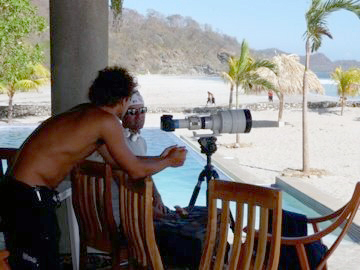Shooting at the studio, Playa Colorado, Nicaragua.