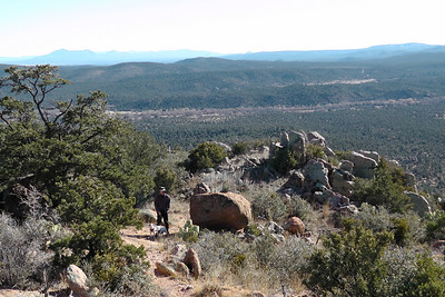 Looking south with Granite Mountain Wilderness in the distance.
