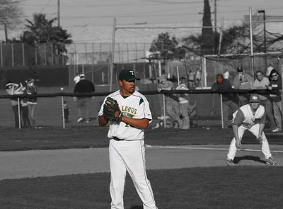 flores on mound black and white